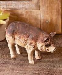 pig sculpture garden art cold cast