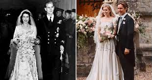 Princess Beatrice Borrowed Her Wedding Dress And Tiara From Queen Elizabeth Ii S Wardrobe