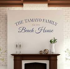 Amazon Com Custom Family Name Wall Decal Personalized Name Beach House Wall Sticker Custom Name Wall Sign Monogram Stencil Beach Paradise Aloha Palm Trees Sandy Toes Wall Decal Sticker Handmade