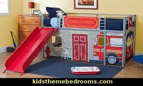 Fire Truck Bed Fire Engine Theme Beds Fire Truck Theme Beds Firehouse Furniture Fire Truck Toddler Beds Truck Beds Fire Engine Themed Beds Fireman Bedroom Decor Fire Truck Boys Bedroom Ideas