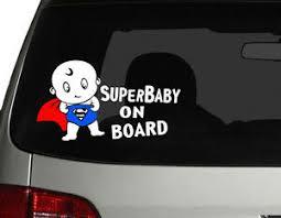 Baby On Board Car Decal Sticker Cute Superhero Superman Superbaby 7 75 W Ebay