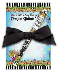 drama queen notepad gift set hollins