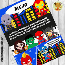 Avengers Invitacion Whatsapp