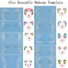 1pcs reusable soft face paint stencil