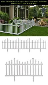 Zippity Outdoor Products Zp19001 No Dig Vinyl Picket Unassembled Garden Fence 2 Pack 30 X 58 White Plans Fence Design Backyard Patio Beautiful Backyards