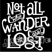 Not All Who Wander Are Lost Jeep Decal Sticker Decalmonster Com