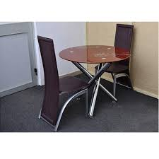 handy s brown dining table 2 chairs