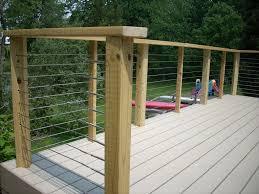 Wood And Hog Wire Deck Railing Oscarsplace Furniture Ideas Simple But Saftey Hog Wire Deck Railing