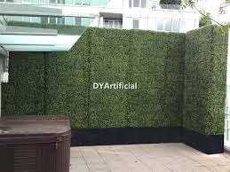 Huge Artificial Boxwood Hedge For Rooftop Balcony Privacy Dongyi