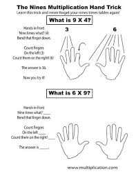 multiply by 9 using your hands video