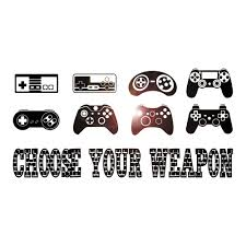Vinyl Wall Decal Gaming Quote Joysticks Video Game Gamer Room Stickers Wallstickers4you