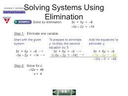 solving systems using elimination for