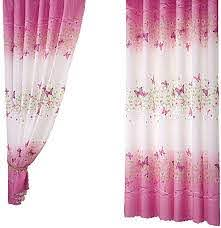 Amazon Com Pannow Butterfly Flowers Printed Window Curtains With Hooks Girls Room Curtain Panels For Bedroom Living Room Kids Room Or Nursery Window Drapes 39 X 78 1 Panel Kitchen Dining