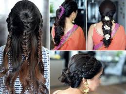 ponyl hairstyle gear up for garba
