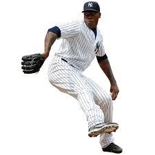 New York Yankees Aroldis Chapman Fathead Life Size Removable Wall Decal