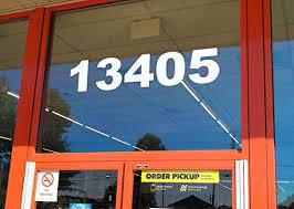 Amazon Com White Storefront Address Numbers 10 Tall Custom Vinyl Decal Die Cut Sticker Business Glass Window Home Improvement
