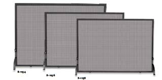 iron fireplace screen large 50 wide