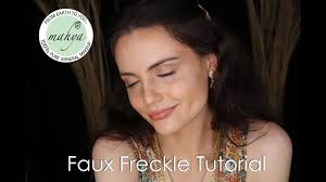faux freckle tutorial no makeup