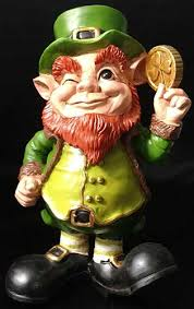leprechaun garden statue coin the