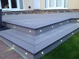 composite decking with built in lights