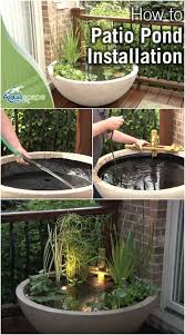 patio water garden the easy way