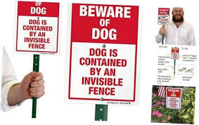 Smartsign Beware Of Dog Sign Dog Contained By An Invisible Fence Sign For Yard In 2020 Invisible Fence Fence Signs Dog Signs