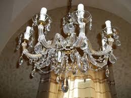 light crystal glass chandelier
