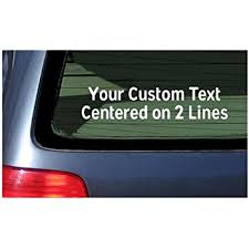 Amazon Com Oliver S Labels Custom Vinyl Twitter Window Car Decal Sticker Choose Font Color And Text Automotive