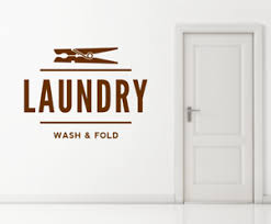 Laundry Launderette Utility Dry Cleaning Sign Text Wall Window Decal Sticker Ebay