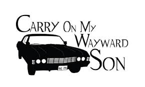 1967 Supernatural Impala Vinyl Decal Carry On My Wayward Son Supernatural Impala Supernatural Vinyl Monogram