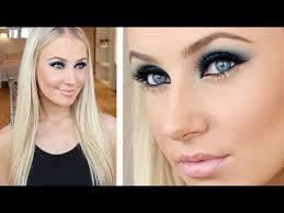 navy gold party makeup tutorial you