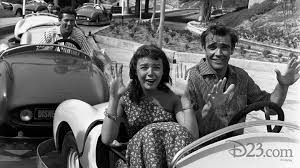 Sean Connery and Janet Munro on the Autopia - D23