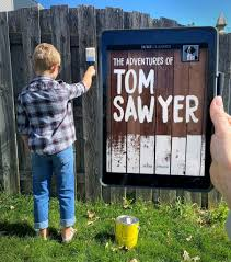 Bookfacefriday The Adventures Of Tom Sawyer By Mark Twain Nebraska Library Commission Blognebraska Library Commission Blog