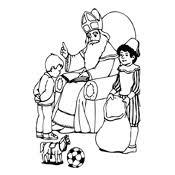 Kleurplaten Sinterklaas En Zwarte Piet