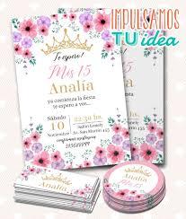 Tarjeta De 15 Para Imprimir Invitacion Y Personal Diana