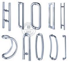 glass door pull handles