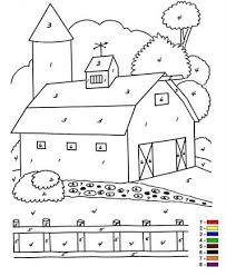 Kids N Fun 12 Kleurplaten Van Kleur Op Nummer Boerderij