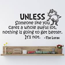 Dr Seuss The Lorax Unless Someone Nursery Wall Art Vinyl Sticker Decal Mural Wish