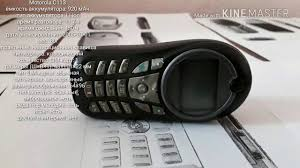 Обзор Motorola C113 - YouTube
