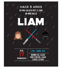 Invitacion Cumpleanos Star Wars La Fuerza Oh Yupi Yei