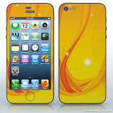 Gold Sunlight Yellow Sparkling Image Cell Phones Apple Iphone 5 5g Decal Skin Wrap Sticker Abstract Colorful
