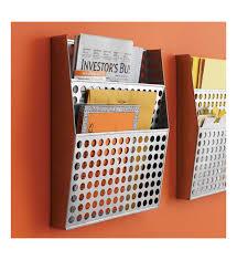 metal wall file organizer in wall mount