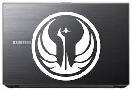 Galactic Republic Star Wars 5 White Vinyl Decal Sticker For Car Automobile Window Wall Laptop Notebook Etc Any Smooth Surface Such As Windows Bumpers On Star Wars