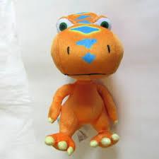 orange buddy plush pbs kids t rex jim