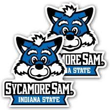 Amazon Com Indiana State University Window Decal Set Of 2 Sycamore Sam Automotive