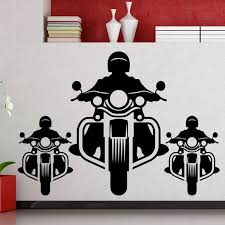 Motorcycle Wall Decal Motorcyclist Racer Garage Police Car Station Interior Decor Door Window Vinyl Stickers Cool Wallpaper Q608 Wall Stickers Aliexpress