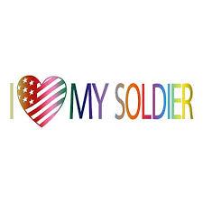 Amazon Com I Love My Soldier Car Window Vinyl Decal Sticker Ls 01 Handmade