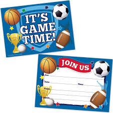 Invitaciones De Fiesta De Cumpleanos De Deportes Futbo