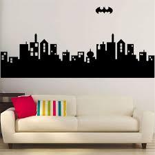 Amazon Com Batman Wall Decal Sticker Gotham City Skyline Batman Decal Home Art Deco Boy Room Decor Home Kitchen