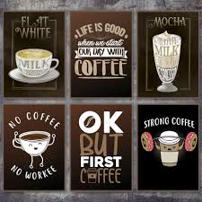 cartoon donuts cup coffee quotes nordic posters and prints wall